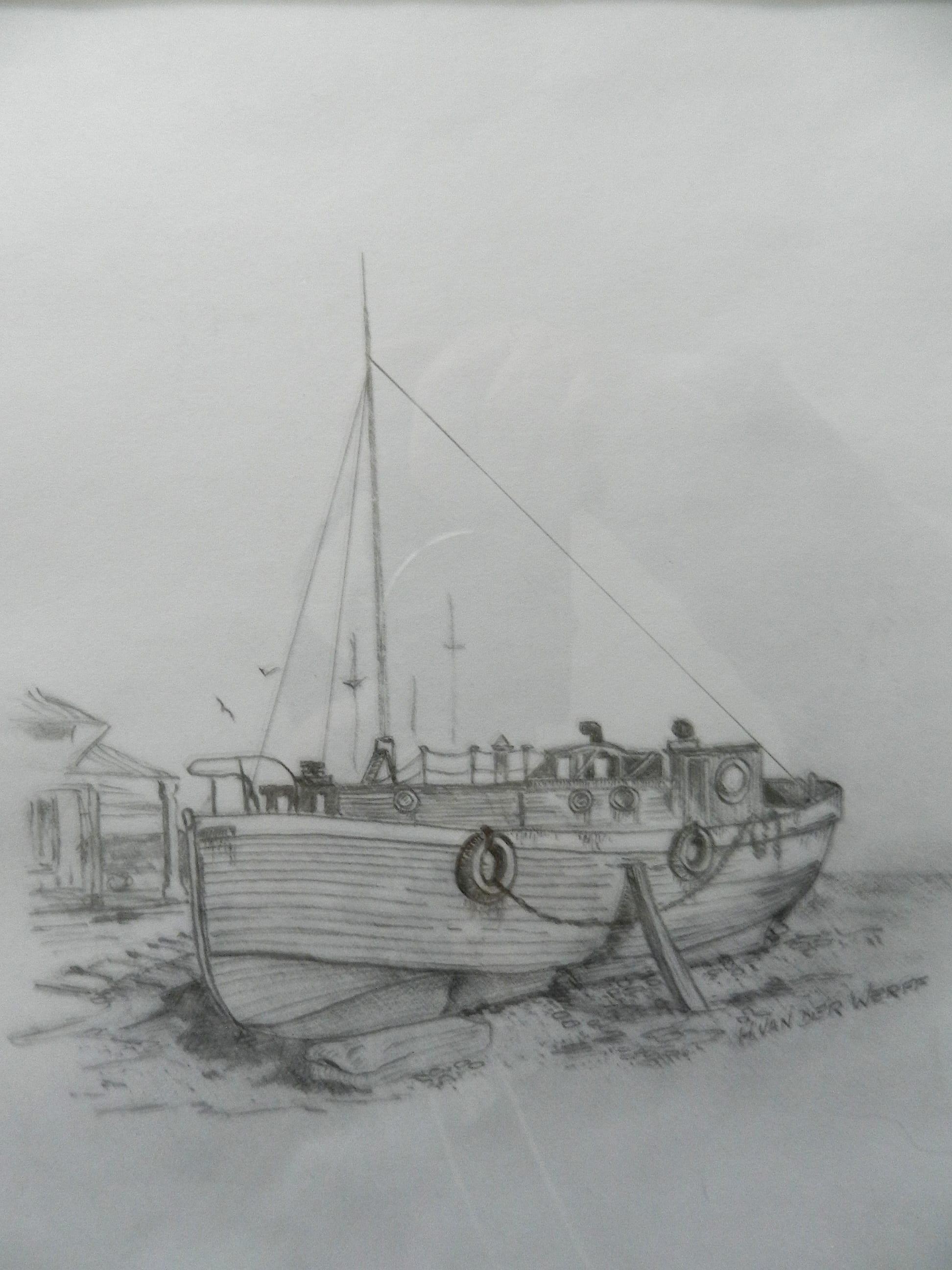B&W-BoatInDock-DSCN9662