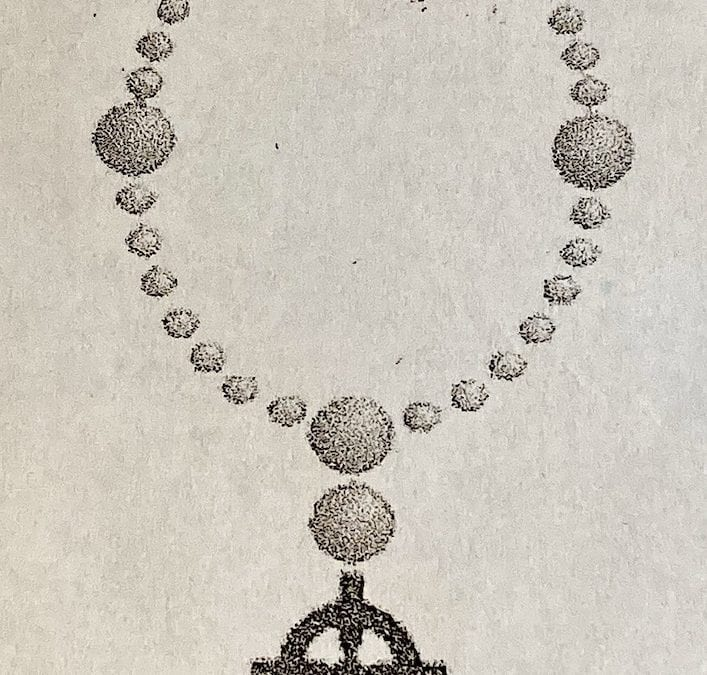"""Holy Week TRIDUUM: MAUNDY THURSDAY-GOOD FRIDAY-HOLY SATURDAY: anglican prayer beads"""